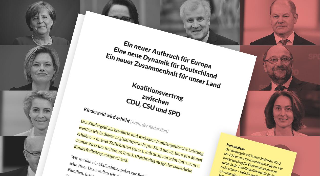 Die wichtigsten Stellen im Koalitionsvertrag von Union und SPD